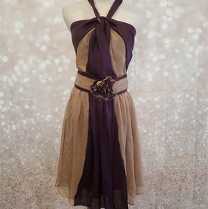 Last One! NWT RYU Belted Halter Dress
